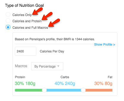 How to Create a Nutrition Goal for a Client – Trainerize