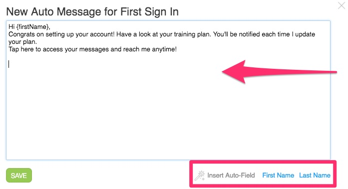 How do I customize my auto-messages and events? – Trainerize Help Center
